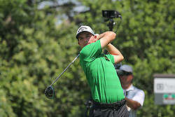 May 25, 2018 - Fort Worth, TX, U.S. - FORT WORTH, TX - MAY 25: Aaron Wise (USA) hits from the 9th tee during the second round of the Fort Worth Invitational on May 25, 2018 at Colonial Country Club in Fort Worth, TX. (Photo by George Walker/Icon Sportswire) (Credit Image: © George Walker/Icon SMI via ZUMA Press)