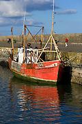 Trawler, Howth harbour Dublin, Carraig Bui (yellow rock)