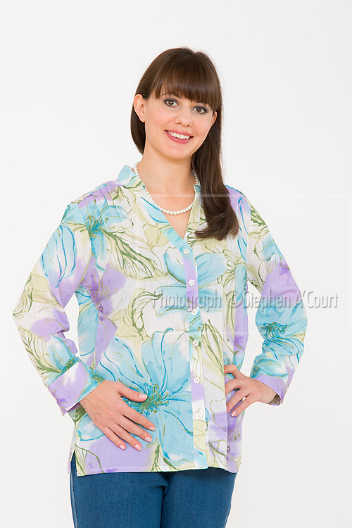 Floral Pastel Shirt. Photo credit: Stephen A'Court.  COPYRIGHT ©Stephen A'Court