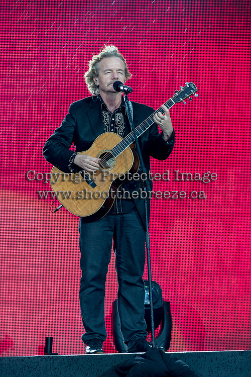 REGINA, SK - MAY 17: Jack Semple plays his guitar during the opening ceremonies of the 2018 MasterCard Memorial Cup at Mosaic Stadium on May 17, 2018 in Regina, Canada. (Photo by Marissa Baecker/Shoot the Breeze)