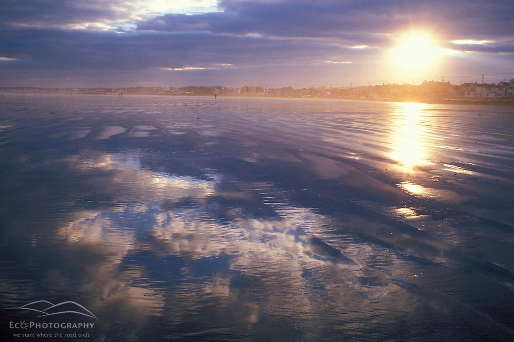 Beach and Sky reflections.  Long Sands Beach, York, ME