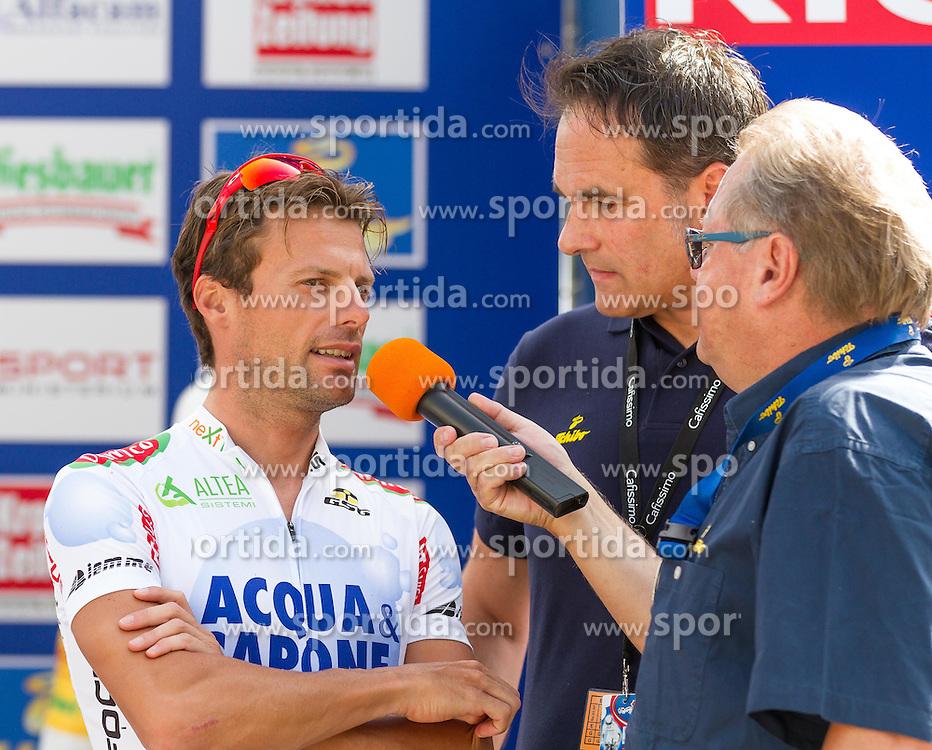 01.07.2012, Innsbruck, AUT, 64. Oesterreich Rundfahrt, 1. Etappe, EZF Innsbruck, im Bild Danilo Di Luca (ITA) und Harry Mayer. during the 64rd Tour of Austria, Stage 1, Individual time trial in Innsbruck, Austria on 2012/07/01