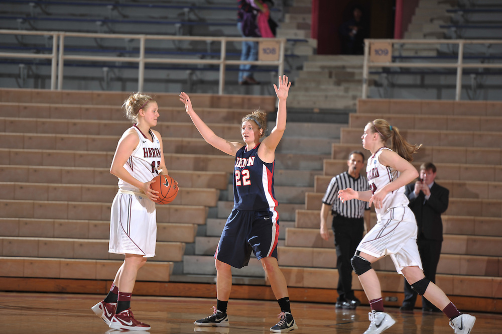 Harvard beat Penn women 57-53 at the Palestra on February 25, 2012.