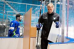 Klemen Pretnar and Ivo Jan (head coach) at ice hockey practice one day before at IIHF World Championship DIV. I Group A Kazakhstan 2019, on April 28, 2019 in Barys Arena, Nur-Sultan, Kazakhstan. Photo by Matic Klansek Velej / Sportida