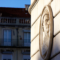 An impressive monument to King John the first marks the main part of Figueira Square in the Baxia district of Lisboa.