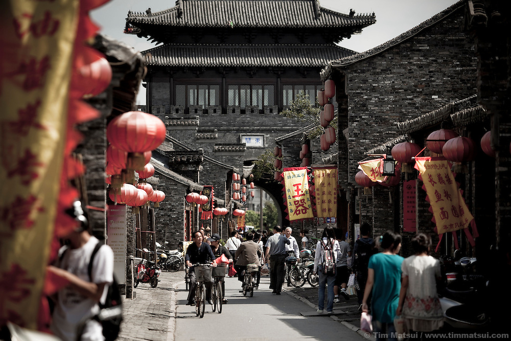 The Shuangdong Block, a rebuilt historical center of Yangzhou, China, which was once a major trading hub due to a 2500 year-old hand-dug canal. Yangzhou is now a suburb city of Shanghai and major producer of photovoltaic cells for solar power.
