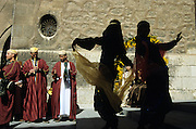 SPAIN / Aragon / Teruel. Medieval recreations in Spain. Moorish musicians and dancers. The city rememorates the story of lovers Isabel de Segura and Diego Marcilla, known as Los Amantes de Teruel.....