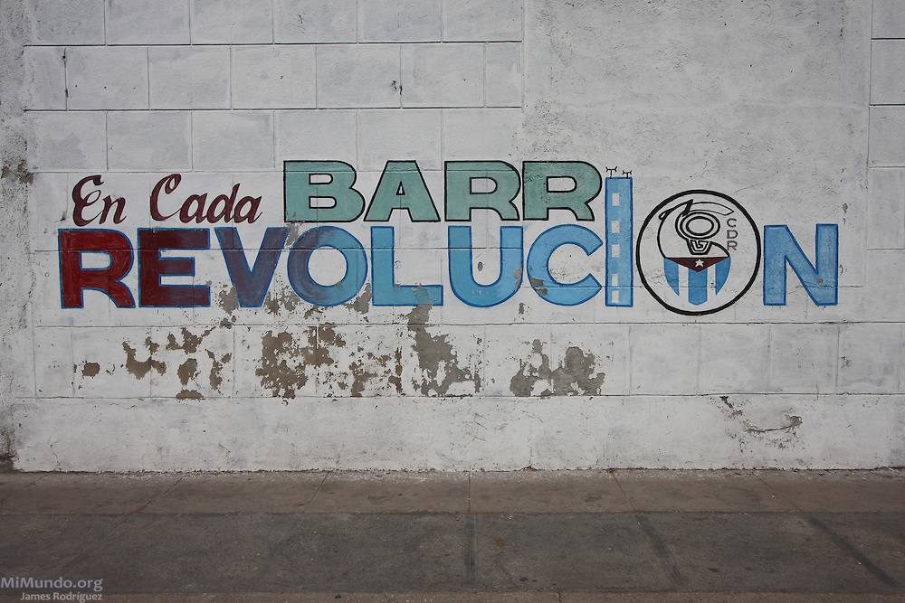 "Sign reads: ""The Revolution in each Barrio"". Cienfuegos, Cuba. January 2009."