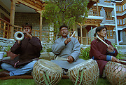 Musicians in traditional costume - Ley - Ladakh Himalayas - 2006