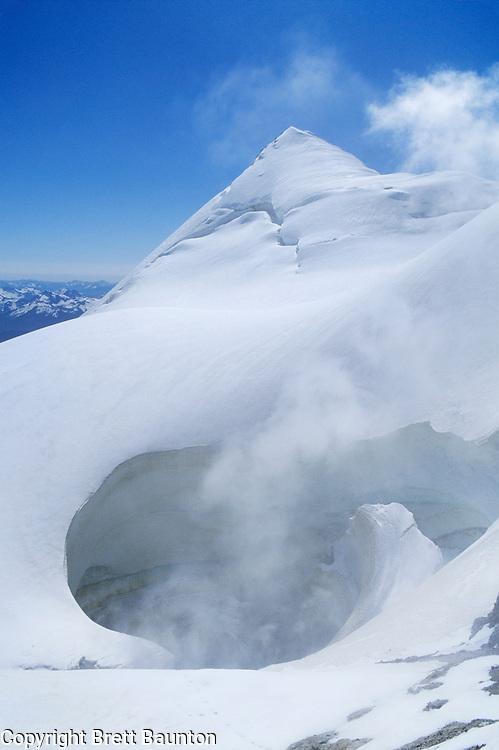 Mt. Baker, Crater, Steam Vent, Summit, Glacier Climbing, WA