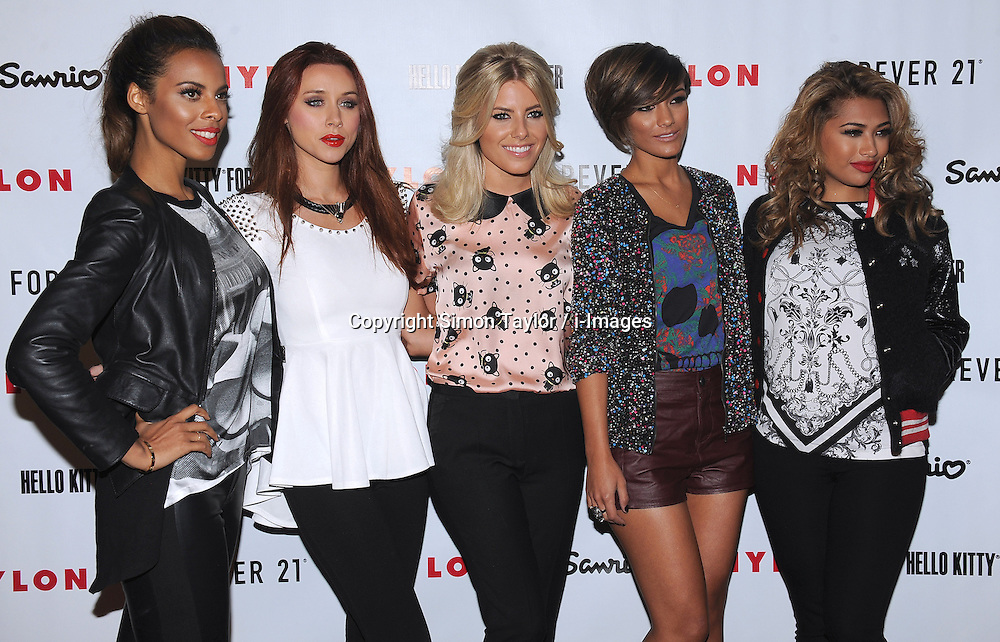 The Saturdays attend the Nylon Magazine October It Issue Party and Launch of Hello Kitty Forever Collection at The London West Hollywood,  Monday October 15, 2012. Photo By Simon Taylor / i-Images