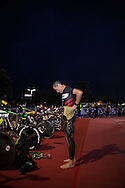 Craig Alexander (AUS), March 23, 2014 - Ironman Triathlon : Athletes prepare for the race start. Ironman Melbourne Race Race, Frankston Swim Course/Transition, Melbourne, Victoria, Australia. Credit: Lucas Wroe