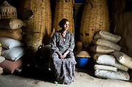 Mulu Haregot, 35, at home in Adi Sibhat, Tigray, Ethiopia