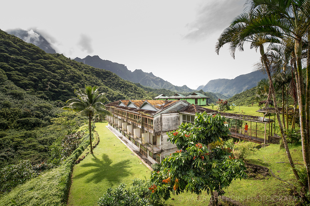 Le Belvedere is the only hotel restaurant in the middle of Tahiti Nui the closest road get to the island highest peaks.