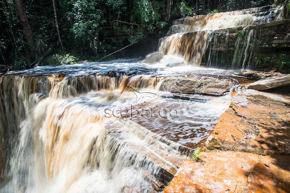 Waterfall, Maliau Basin, Sabah, Malaysia, Borneo,