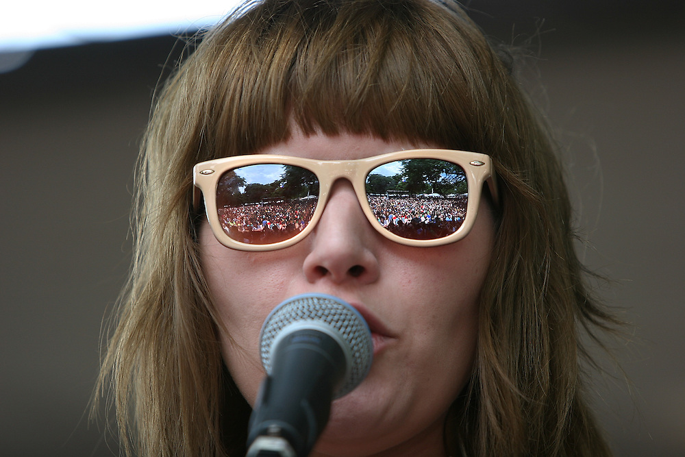 CHICAGO - JULY 18:  Bethany Cosentino of Best Coast performs onstage during the 2010 Pitchfork Music Festival at Union Park on July 18, 2010 in Chicago, Illinois.  (Photo by Roger Kisby/Getty Images)