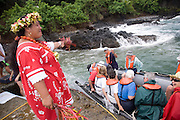 Welcome, Hiva Oa, Puamau, Marquesas Islands, French Polynesia, (Editorial use only)<br />