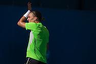 Alexander Dolgopolov (UKR)<br /> <br /> Tennis - Brisbane International 2015 - ATP 250 - WTA -  Queensland Tennis Centre - Brisbane - Queensland - Australia  - 6 January 2015. &copy; Tennis Photo Network