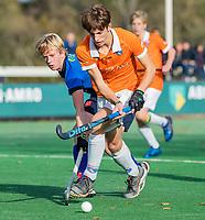 BLOEMENDAAL - Sybe Melsert (Bldaal)   tijdens de competitiewedstrijd hockey jongens B , Bloemendaal JB1-Breda JB1 (3-2)  , COPYRIGHT KOEN SUYK