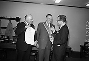 21/07/1967<br /> 07/21/1967<br /> 21 July 1967<br /> Greek Order conferred on Sean Lemass. The Sovereign Greek Order of Saint Denis of Zante was conferred on the former Taoiseach, Sean Lemass T.D. at Leinster House, Dublin. Pericles Voultsos, the Grand Master of the Order travelled specially from the United States to confer the Order of Knighthood on Mr. Lemass. Picture shows Dr. Voultsos (right) investing Mr Lemass with the Order, with Mr. Phoebus Moussoulides (left) Charge D'Affaires of the Order in Dublin on left.