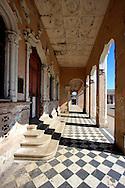 Colonnade in Rodas, Cienfuegos Province, Cuba.