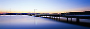 Valentine jetty at Sunset, Lake Macquarie, Australia