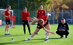 NEWPORT, WALES - Tuesday, November 6, 2018: Wales' goalkeeper Emma Gibbon during a training session at Dragon Park ahead of two games against Portugal. (Pic by Paul Greenwood/Propaganda)