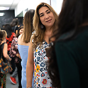 OCTOBER 27, 2018--MIAMI, FLORIDA<br /> The independent documentary, Havana Habibi, by Tiffany Madera, is screened in O Cinema in Miami's Wynwood neighborhood. The film tracks the personal journey of Madera to Cuba where she is credited with creating a belly dancing movement through her teachings to young girls.<br /> (PHOTO BY ANGELVALENTIN)