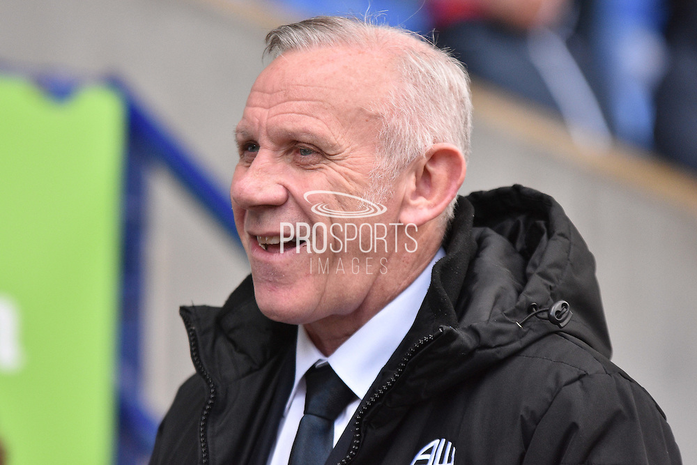 Peter Reid  during the Sky Bet Championship match between Bolton Wanderers and Middlesbrough at the Macron Stadium, Bolton, England on 16 April 2016. Photo by Mark Pollitt.