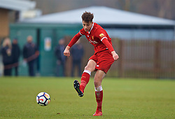 WOLVERHAMPTON, ENGLAND - Tuesday, December 19, 2017: Liverpool's Rhys Williams during an Under-18 FA Premier League match between Wolverhampton Wanderers and Liverpool FC at the Sir Jack Hayward Training Ground. (Pic by David Rawcliffe/Propaganda)