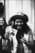 Happy looking Grateful Dead fan, San Francisco, USA, 1980