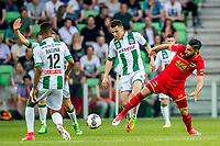 GRONINGEN, 17-05-2017, FC Groningen - AZ,  Noordlease Stadion, FC Groningen speler Oussama Idrissi, AZ speler Alireza Jahanbakhsh