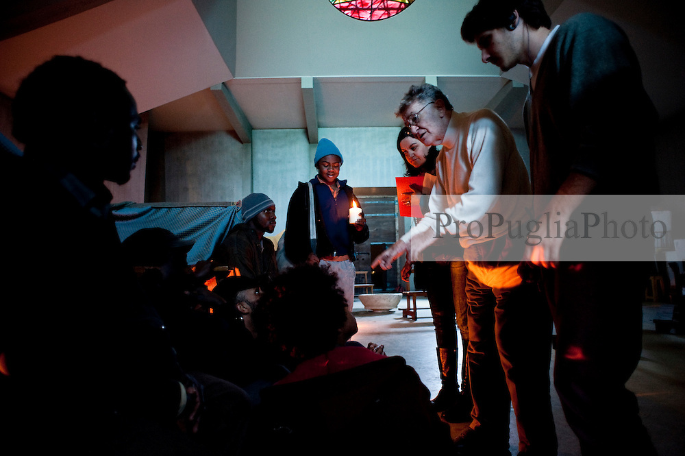 IL VILLAGGIO DI CARTONE.REGIA ERMANNO OLMI.12 NOVEMBRE 2010.