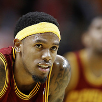 24 January 2012: Cleveland Cavaliers shooting guard Daniel Gibson (1) rests during the Miami Heat 92-85 victory over the Cleveland Cavaliers at the AmericanAirlines Arena, Miami, Florida, USA.