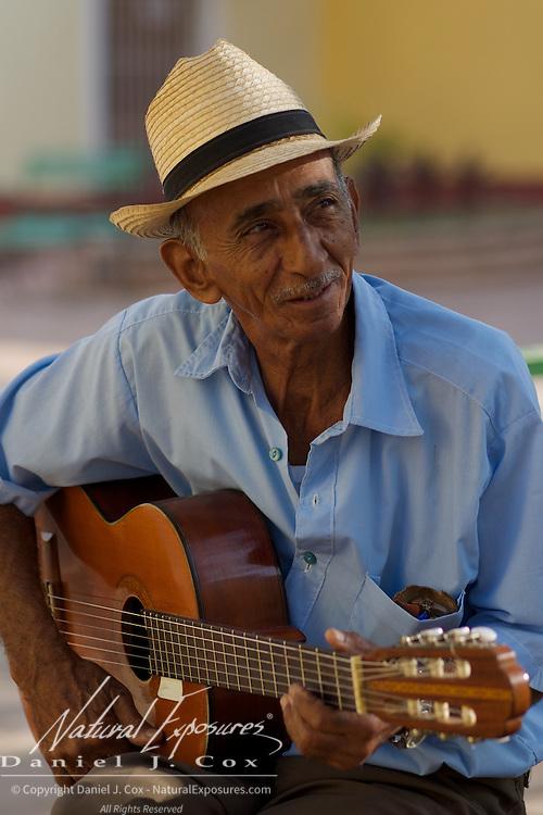 Wakem, a local musician in Trinidad, Cuba.