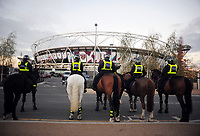 Football - 2016 / 2017 League [EFL] Cup - Fourth Round: West Ham United vs. Chelsea<br /> <br /> Police of bores back enter the stadium at the London Stadium.<br /> <br /> COLORSPORT/ANDREW COWIE