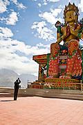 Maitreya (Buddha of the Future) statue at Disket monastery, Nubra valley.