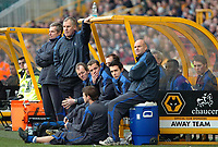 Photo: Ed Godden.<br />Wolverhampton Wanderers v Ipswich Town. Coca Cola Championship. 18/02/2006. <br />Ipswich manager Joe Royle (2nd, L) watches on as his team are beaten 1-0.