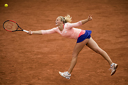 July 26, 2017 - Bastad, Sweden - KATERINA SINIAKOVA of the Czech Republic in action against A Rus of the Netherlands during their match at the Swedish Open in Bastad. Siniakova won 7:6, 6:4. (Credit Image: © Petter Arvidson/Bildbyran via ZUMA Wire)