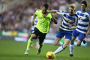 Brighton central midfielder, Beram Kayal (7) takes on Reading defender Paul McShane (5) during the Sky Bet Championship match between Reading and Brighton and Hove Albion at the Madejski Stadium, Reading, England on 31 October 2015.