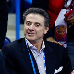 Apr 9, 2013; New Orleans, LA, USA; Louisville Cardinals men's basketball head coach Rick Pitino smiles before the championship game in the 2013 NCAA womens Final Four against the Connecticut Huskies at the New Orleans Arena. Mandatory Credit: Derick E. Hingle-USA TODAY Sports