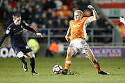 Blackpool's Brad Potts (8) during the The FA Cup 3rd round match between Blackpool and Barnsley at Bloomfield Road, Blackpool, England on 7 January 2017. Photo by Craig Galloway.