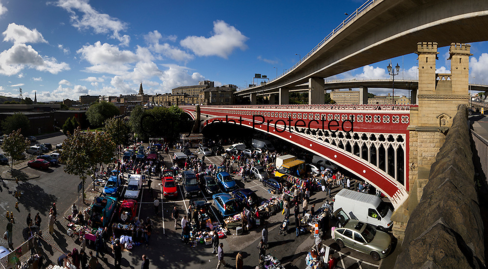 Car boot sale held under North Bridge, Halifax.