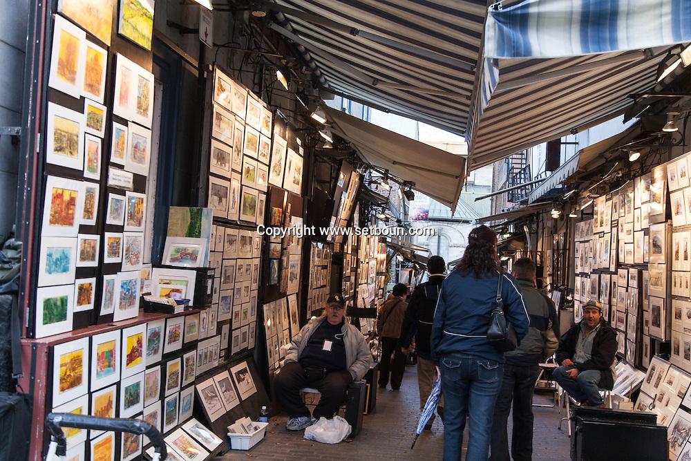 Canada. Quebec. tresor street , artist street.   in the old city   / la rue du tresor, rue des artistes. dans la vielle ville