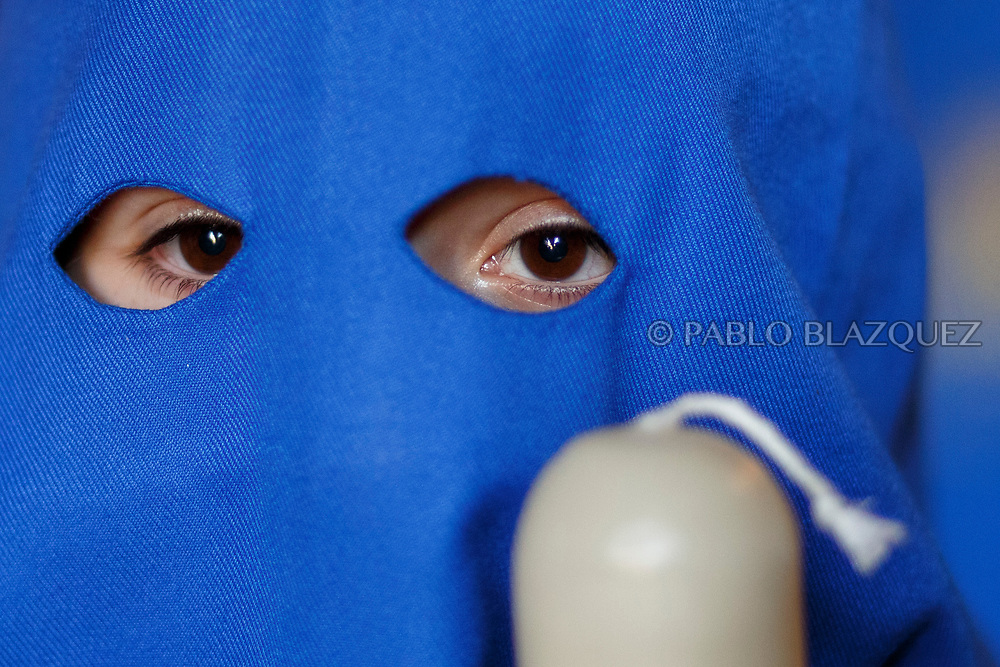CORDOBA, SPAIN - MARCH 29: Penitents of El Prendimiento brotherhood take part in a procession during Easter Tuesday on March 27, 2018 in Cordoba, Spain. Spain celebrates the holy week before Easter with processions in most Spanish towns and villages. (Photo by Pablo Blazquez Dominguez)