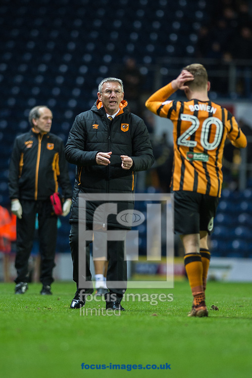 Hull City manager Nigel Adkins congratulates Jarrod Bowen of Hull City following the FA Cup match at Ewood Park, Blackburn<br /> Picture by Matt Wilkinson/Focus Images Ltd 07814 960751<br /> 06/01/2018