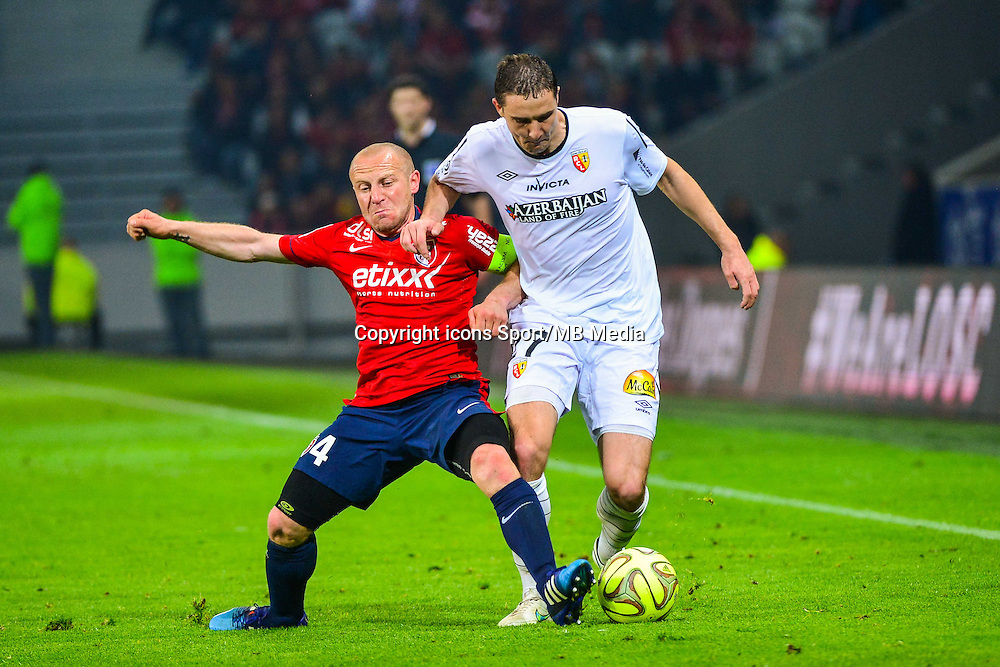 Florent BALMONT / Benjamin BOULENGER - 03.02.2015 - Lille / Lens - 35eme journee de Ligue 1<br />Photo : Dave Winter / Icon Sport