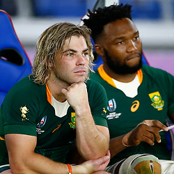 YOKOHAMA, JAPAN - SEPTEMBER 21: Faf de Klerk of South Africa during the Rugby World Cup 2019 Pool B match between New Zealand and South Africa at International Stadium Yokohama on September 21, 2019 in Yokohama, Japan. (Photo by Steve Haag/Gallo Images)
