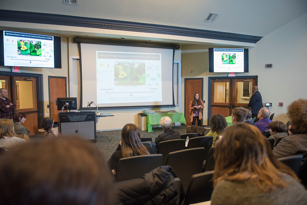 Ohio University hosts the 2019 Three Minute Thesis Competition for doctoral candidates on Feb. 19, 2019 at Stocker Center. Photo by Hannah Ruhoff