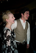 LAURA MARLING; MARCUS JOHNSTONE, South Bank Show Awards, Dorchester Hotel, Park Lane. London. 20 January 2009